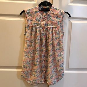 Womens French Connection Floral Blouse Sz 4